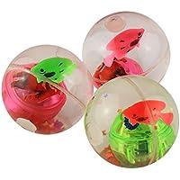 教育玩具、子供baomabaoフラッシュボール弾力ボールwith LED点滅ライトおもちゃ誕生日ギフト