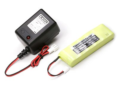 バッテリー・充電器 タムテックギア7.2V500mAhバッテリー&充電 55091