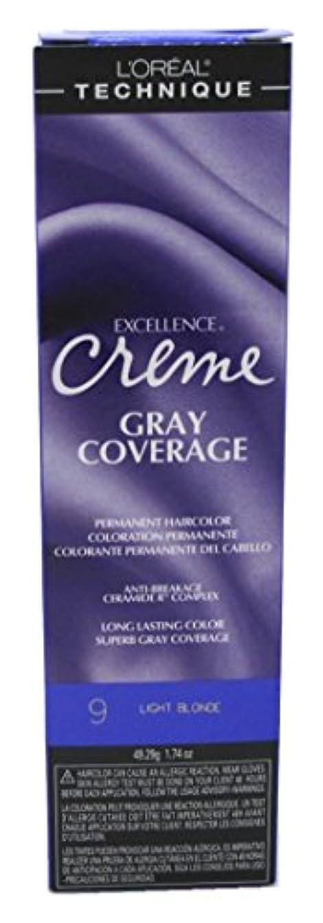 腹痛イブニング証言L'Oreal Paris ロレアルエクセルクリームカラー#9ライトブロンド(3パック)