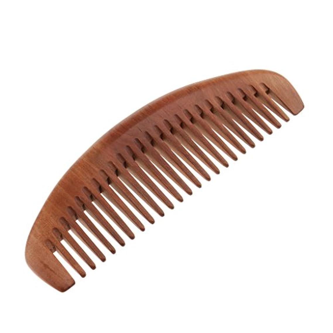 整理するコンデンサー変化するナチュラル ブラシ ウッドヘアコーム ウッドワイドティースコーム 全2種 - ワイド歯