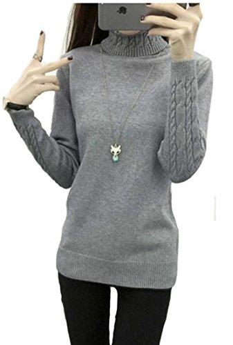 [해외]Heaven Days (헤븐 데이즈) 니트 스웨터 니트 풀오버 터틀넥 케이블 니트 슬림핏 여성 1710M0264/Heaven Days (Heaven Days) Knitted Sweater Knit Pullover Turtleneck Cable Knit Slim Fit Ladies 1710 M0264