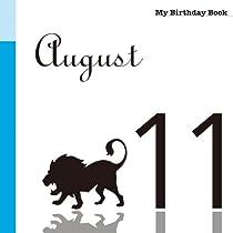 8月11日 My Birthday Book