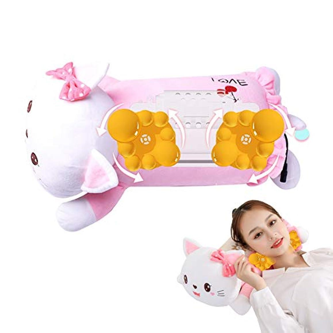 さらに商人立証する首と背中のマッサージ、赤外線暖房電気子猫枕、ミュートは時限多機能腰椎クッション混練マッサージャーすることができます