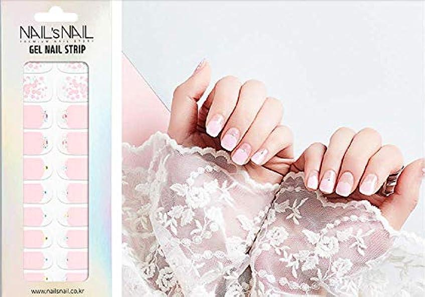 月出来事リネン\貼るジェルネイル/Nail's Nail(ネイルスネイル) ジェルネイルストリップ 55