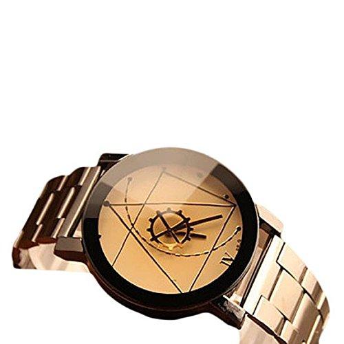 2色 ステンレス製 腕時計 メンズ 羅針盤の指針 おしゃれ ...