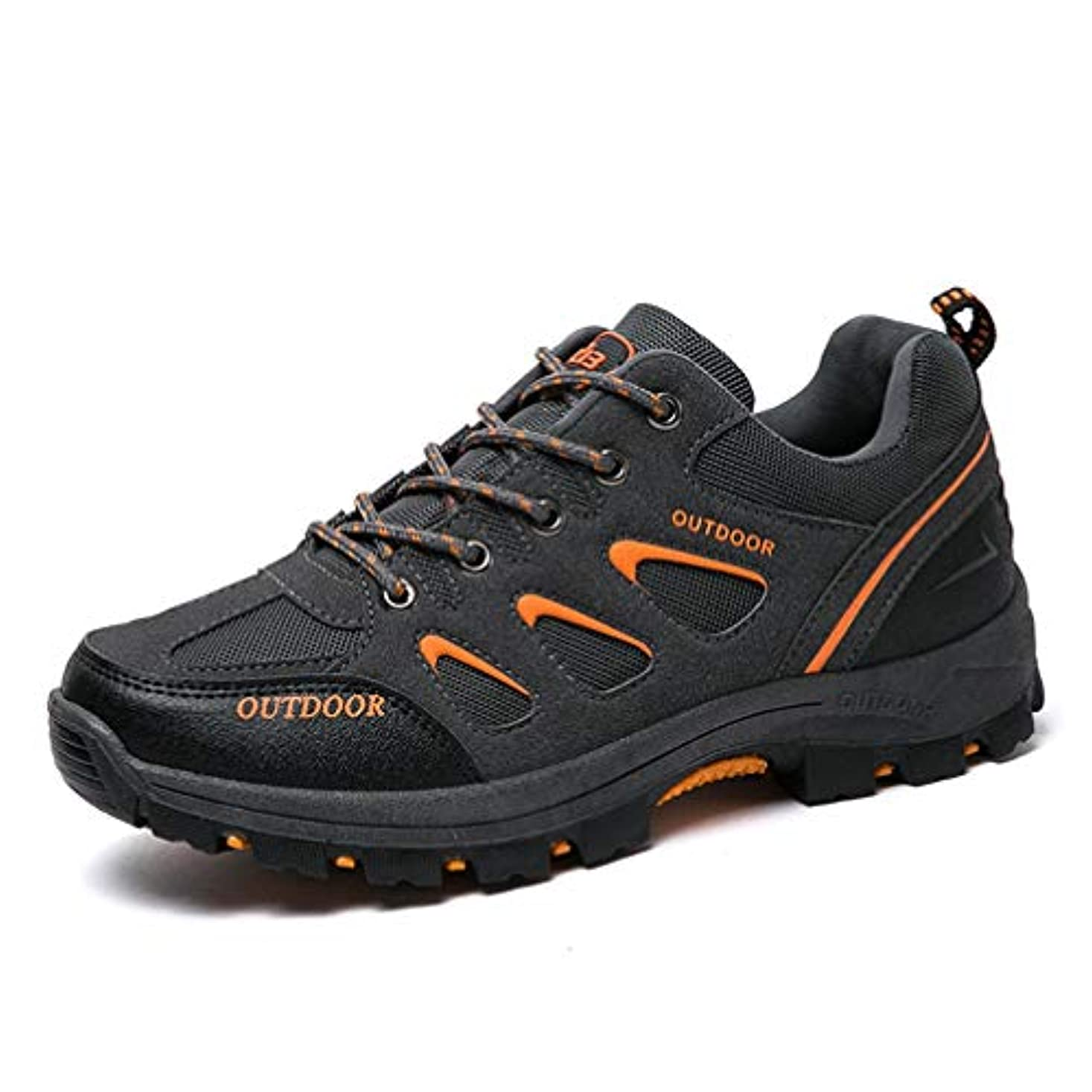学部悲惨な知る大きいサイズ トレッキングシューズ メンズ 登山靴 ハイキング ランニング ジョギング 防水 ローカット アウトドア 通気 軽い 滑り止め おしゃれ 茶 ダークグリーン グレー 27cm