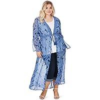 Beme Long Bell Sleeve Kimono - Womens Plus Size Curvy