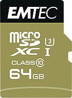 Emtec ECMSDM64GXC10SPマイクロSDXCクラス10 UHS-I U3 microSDXC