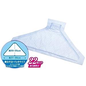 ジェックス ヒノキア 三角トイレシーツ 22枚入 両面吸収 うさぎ用 三角トイレ用