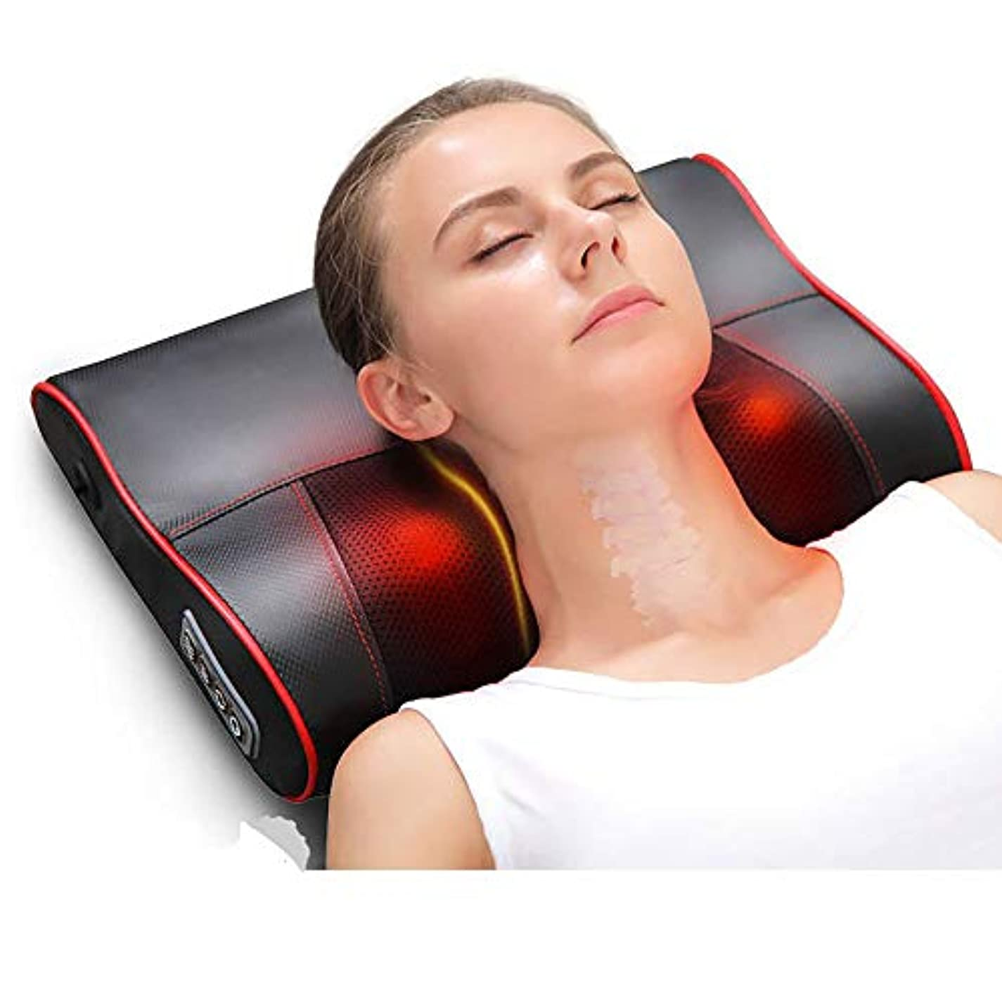 交換可能乳後退する首のマッサージの枕、多機能の電気マッサージャーの首のマッサージャーの背部首のマッサージの枕クッションのための背部ふくらはぎの足のフィートの暖房家/オフィス
