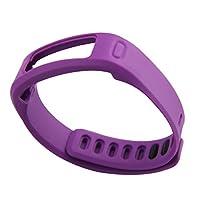 交換用リストバンド Garmin Vivofit対応 クラスプ付属 (Purple, L)