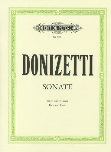 ドニゼッティ: フルート・ソナタ/ペータース社/ピアノ伴奏付ソロ