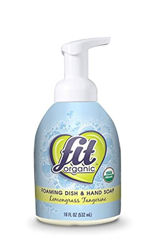 高潔な気球帝国Fit Organic Foaming Dish & Hand Soap, Lemongrass Tangerine, 18 Ounce by Fit Organic