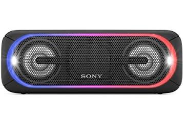 ソニー SONY ワイヤレスポータブルスピーカー 重低音モデル SRS-XB40 : 防水/Bluetooth/LDAC/NFC/専用スマホアプリ対応 ライティング機能搭載 ブラック SRS-XB40 B