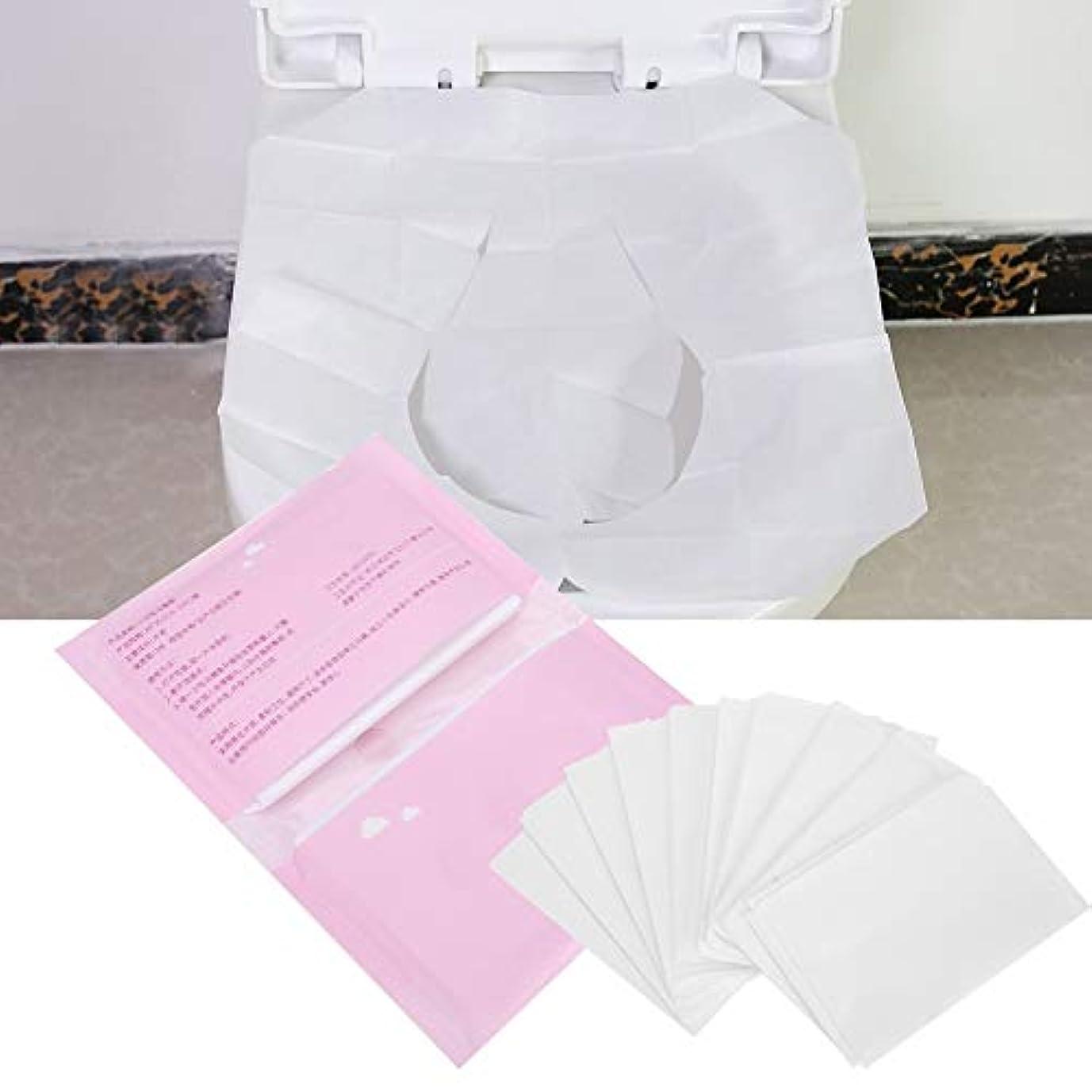 トイレットシートペーパー、旅行のための5つの袋の使い捨て可能な分解可能なトイレットペーパーペーパー、10pices / bag