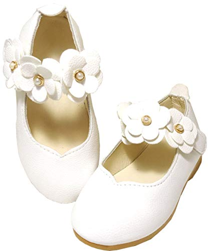 da6b3df99d26e  しあわせ倉庫  キッズ フォーマル 靴 女の子 子供靴 シューズ キッズ靴 結婚式 発表会 七五三 子ども靴 白 (13.5