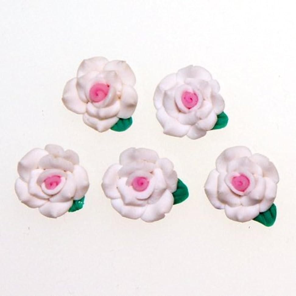 ドメイン染色歌うデコパーツ 1.3cm少し大きめの樹脂薔薇2色使い[d-r4] レジンパーツ レジンクラフト