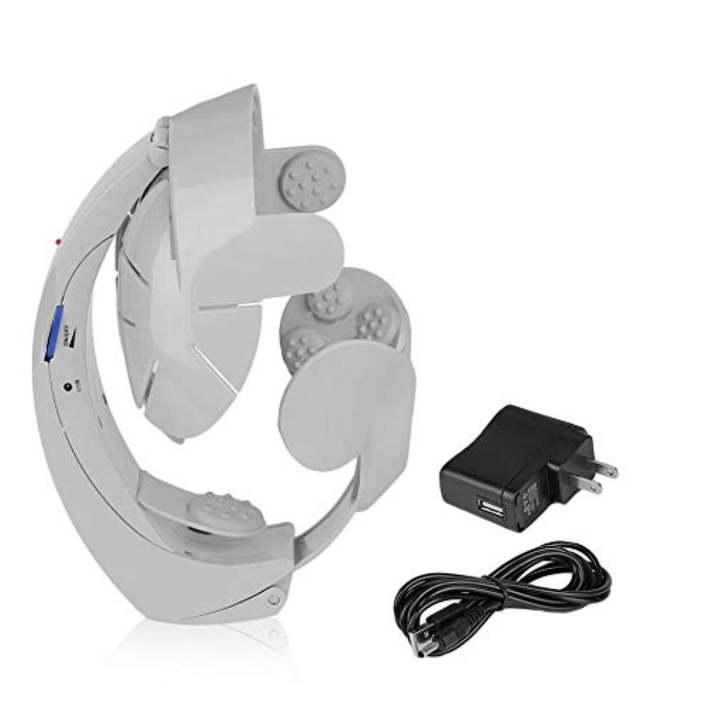 野心地下鉄財団電気ヘッドマッサージャーの脳のマッサージは刺鍼術ポイント灰色の方法を緩めます-Innovationo