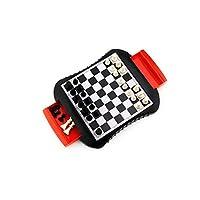 Hongyuantongxun001 国際チェス、実用的で創造的なチェスセット、シンプルで寛大なトレーニング/競技用チェスセット(黒、26 x 22 x 3 cm) 繊細な感じ (Color : Black, Size : 26x22x3cm)