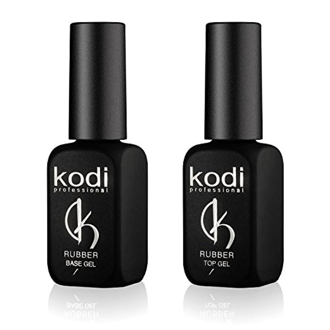 電気陽性展望台達成Kodi プロフェッショナルラバートップ&ベースジェルセット| 12ml 0.42オンス|爪のソークオフとポリッシュ コートキット|長持ちするネイルレイヤー|使いやすい、無毒&無香料| LEDまたはUVランプの下で硬化