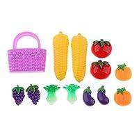 FLAMEER 子供おもちゃ キッチン ダイニングルーム 1/6ドールハウス飾り 野菜 フルーツモデル