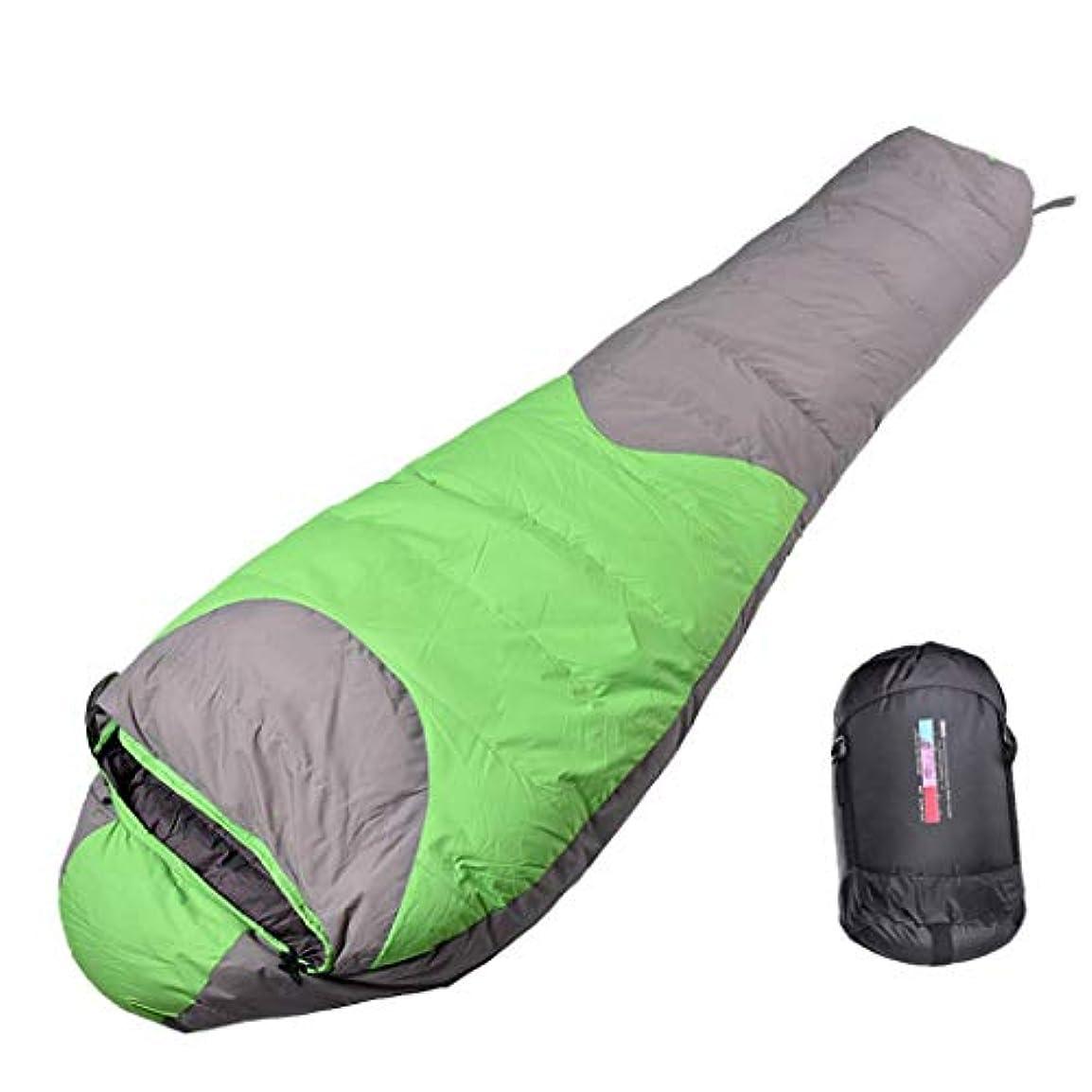 時計最もフェロー諸島LEAFIS Mummy 寝袋 軽量 コンパクト ダウン寝袋 防水 バックパック アウトドア キャンプ ハイキング 旅行