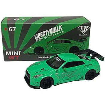 MINI GT 1/64 LBWORKS ニッサン GT-R R35 タイプ1 リアウイング バージョン 1 ライトグリーン フィリピン限定 完成品