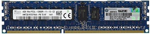 HP/ヒューレット パッ HP 4GB 1Rx4 PC3L-12800R-11 メモリキット 713981-B21