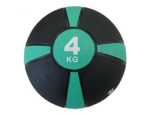 メディシンボール 『マニュアル付き』 筋トレ ラバー製 体幹トレーニング 瞬発力アップ 週2回の軽い負荷で大きな効果 【Fungoal】 4kg