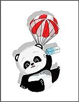 【FOX REPUBLIC】【ミルクを飲むパンダの赤ちゃん】 白マット紙(フレーム無し)A4サイズ