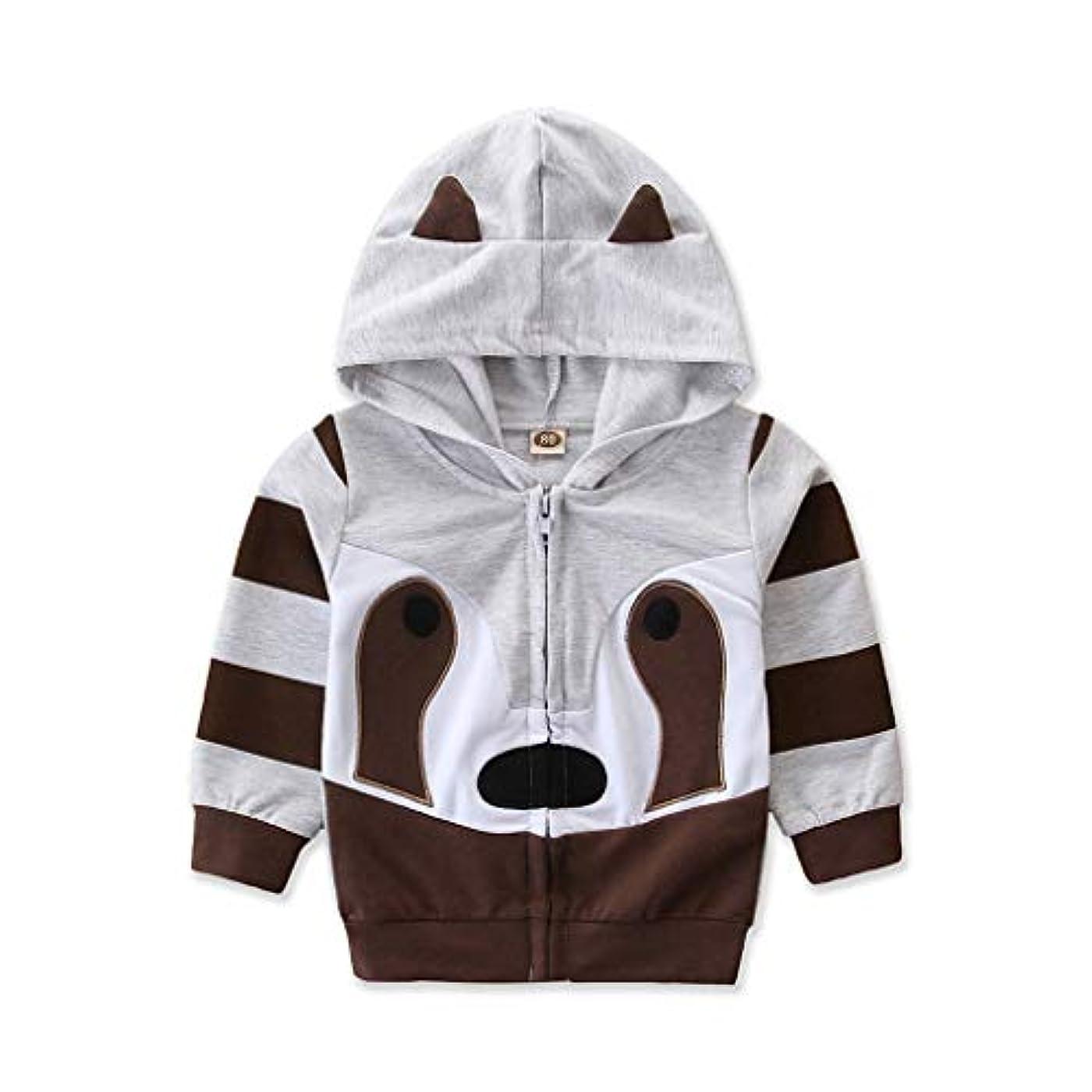 どこでも到着証明REWAGO 幼児子供女の赤ちゃん男の子フード付き漫画スウェットシャツ動物コート衣装生き抜く女の子子動物コートインアニマルシェイプコート