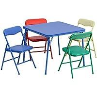 子供用カラフル5 Piece Folding Table and Chair Set [ jb-9-kid-gg ]おもちゃクリスマスギフト