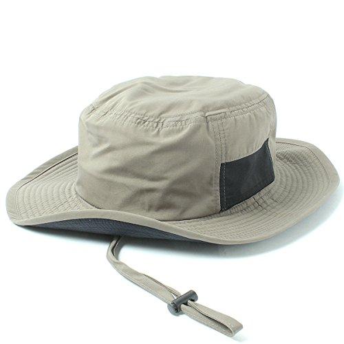 (ベーシックエンチ)ハット Teflon Safari Hat ダークベージュ(裏:ネイビー) 帽子 57-59cm 撥水 防汚 男女兼用 男性 女性 フリーサイズ