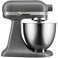 KitchenAid キッチンエイド スタンドミキサー KSM3311XFG Artisan Mini Series Tilt-Head Stand Mixer, 3.5 quart [並行輸入品] (Matte Gray)