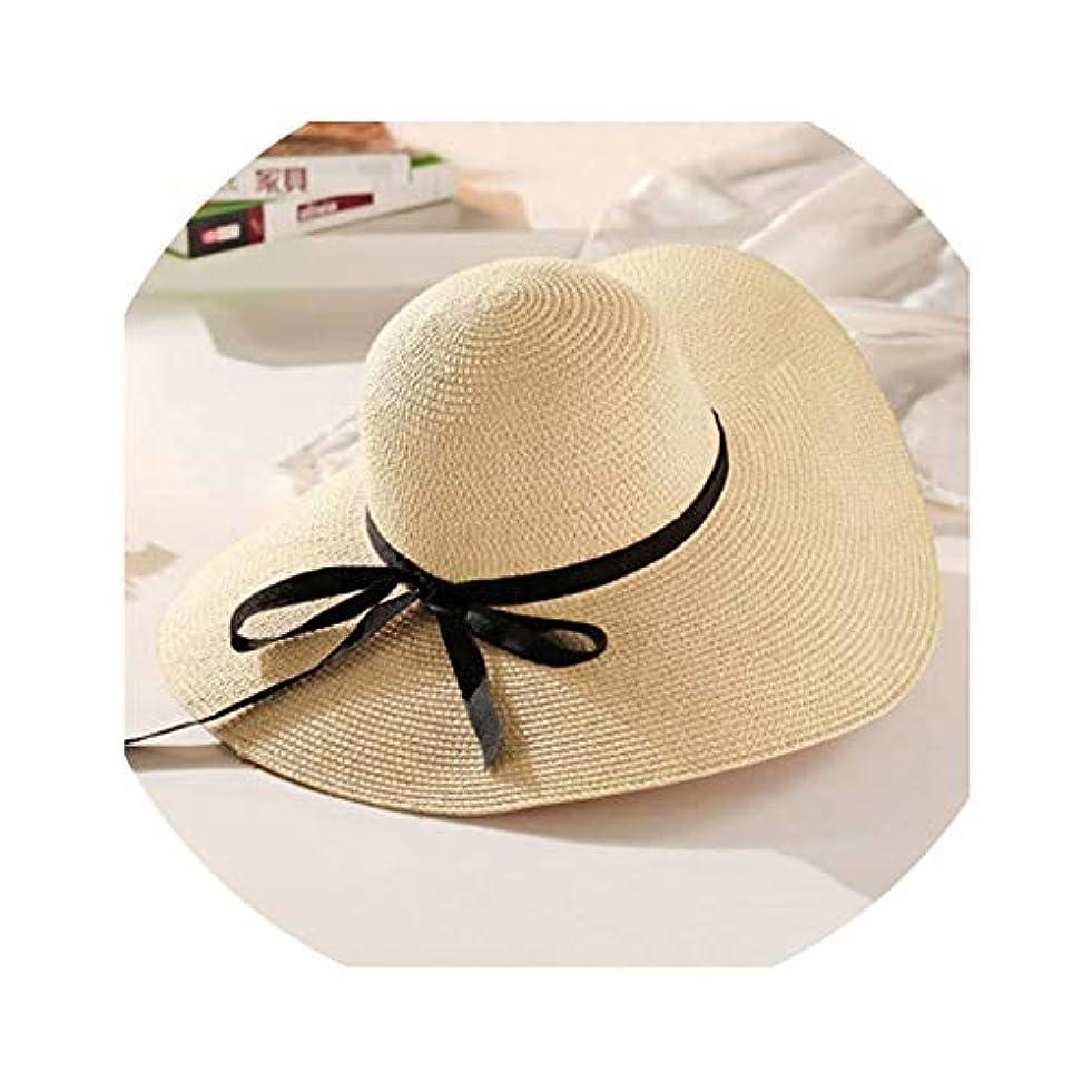シャーロックホームズ明らかにする経験者ラウンドトップラフィアワイドつば麦わら帽子 夏サンハット 女性用