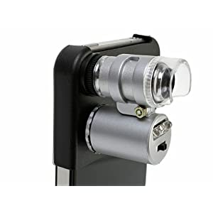 OTAS iPhone 4/4S対応 最大60倍でお肌や頭皮をチェック可能なLED付マイクロスコープ TLX-60X