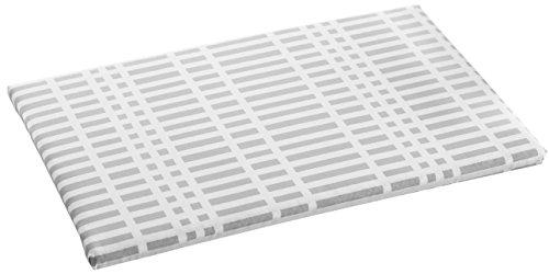 山崎実業(Yamazaki) 北欧風 暮らし定番 平型アイロン台 チェック グレー 約W60XD36XH2cm 1222