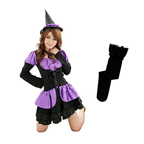 NSD 可愛さ満点 小悪魔 魔女 ハロウィン コスプレ 3点セット 衣装 レディース