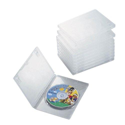 エレコム DVDトールケース 標準サイズ 1枚収納 10個セット CCD-DVD03CR