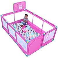 赤ちゃんのための屋外の通気性のあるメッシュのポータブル屋内のピンクのプレイペン幼児の子供たちの遊び場