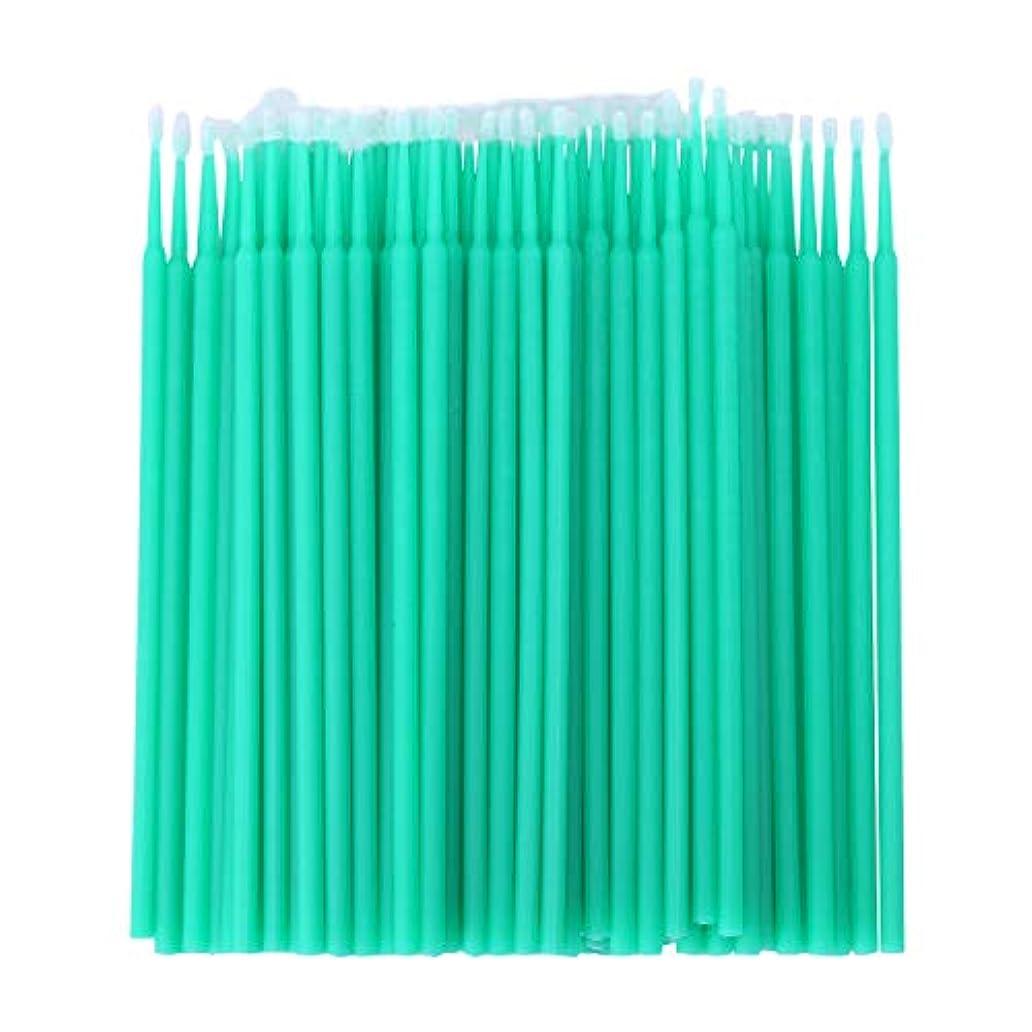 聖歌ピクニックをする摩擦WOVELOT 100個 歯科用マイクロブラシ 使い捨て材料 歯用アプリケーター ミディアムファイン(ライトグリーン)