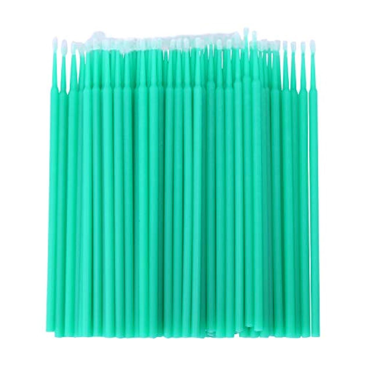 懐疑的ショットオーバードローWOVELOT 100個 歯科用マイクロブラシ 使い捨て材料 歯用アプリケーター ミディアムファイン(ライトグリーン)