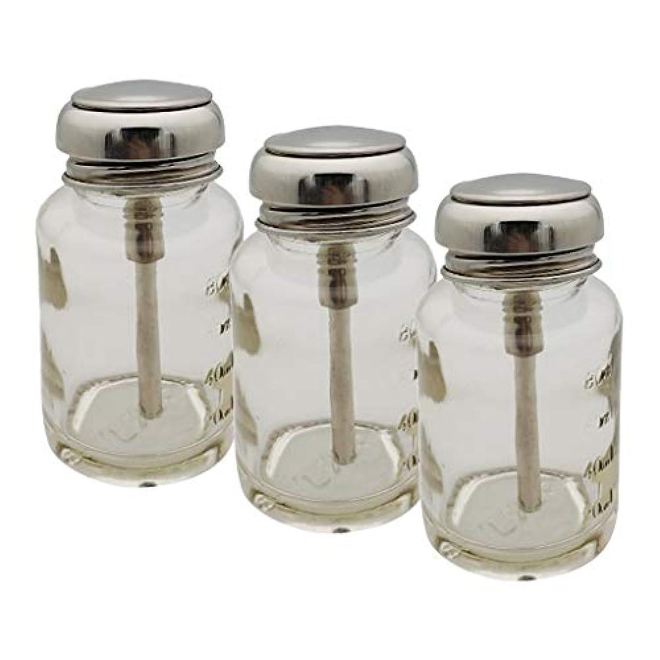 バンジージャンプエネルギーギャングスターCUTICATE ポンプディスペンサー ネイル ポンプボトル 容器 ネイルクリーナーボトル 充填簡単 防食 丈夫 3個入り