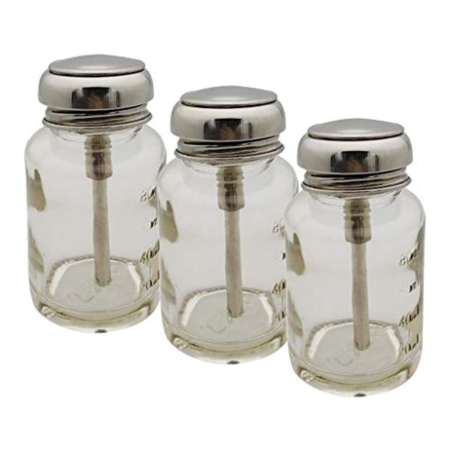 粘着性計算可能マネージャーCUTICATE ポンプディスペンサー ネイル ポンプボトル 容器 ネイルクリーナーボトル 充填簡単 防食 丈夫 3個入り