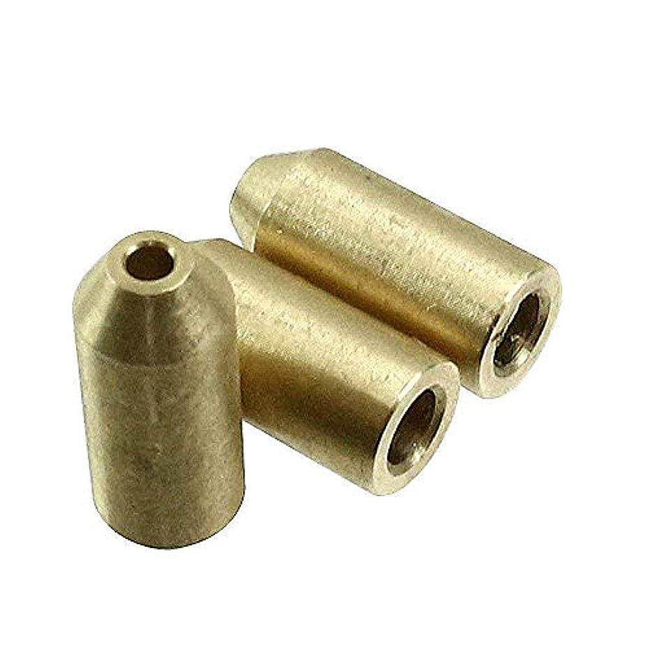 雹愛情格差Homewineasy デュポン用 ライターガス 注入 変換アダプター 汎用 真鍮製 3個セット