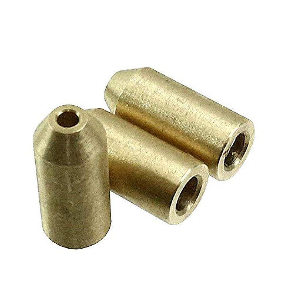 速記アーク教えてデュポン用 ライターガス 注入 変換アダプター 汎用 真鍮製 3個セット