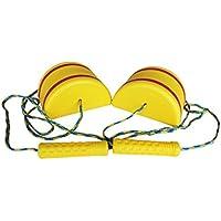 VORCOOL 2pcs/set子供たち(黄色)の子供たちのための屋外のおもしろいスポーツのおもちゃジャンプスキルは、