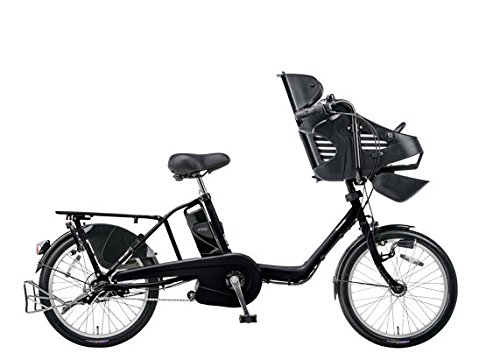 Panasonic(パナソニック) 2015年モデル ギュット・ミニ・DX カラー:ピュアマットブラック 20インチ BE-ELMD03-B 子供乗せ付き電動アシスト自転車 専用充電器付