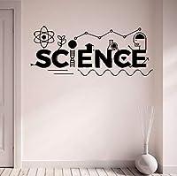 Ansyny 73 * 30センチ科学壁デカールビニールステッカーホームインテリア装飾オフィスアート壁画取り外し可能な壁のステッカー学校教室