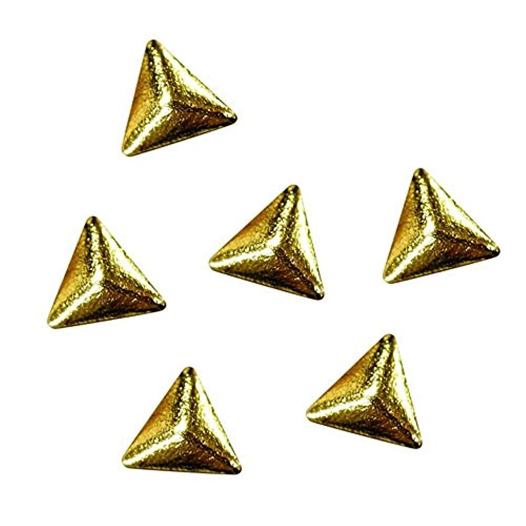 砂漠拘束する習字リトルプリティー ネイルアート LP7033 トライアングルゴールド 2.5mm 50P